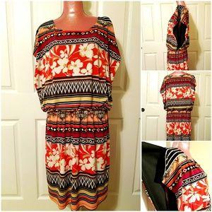 Sale🌷Olivia Matthews Floral Mid Dress Size 20W